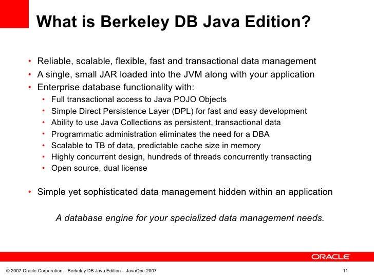 Berkeley db je example