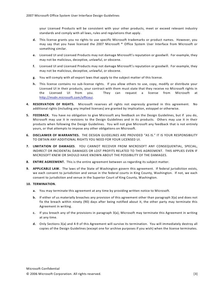 2007 office ui design guidelines license for Office design rules