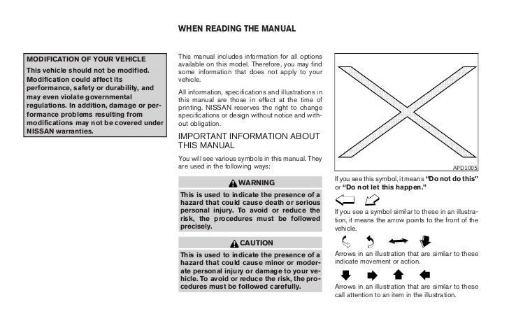 2007 pathfinder owner s manual rh slideshare net 2007 nissan pathfinder owner's manual nissan pathfinder 2007 service manual pdf