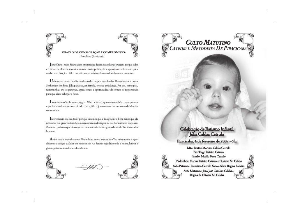 CULTO MATUTINO CATEDRAL METODISTA DE PIRACICABA            Celebração de Batismo Infantil             Júlia Caldas Cetrulo...