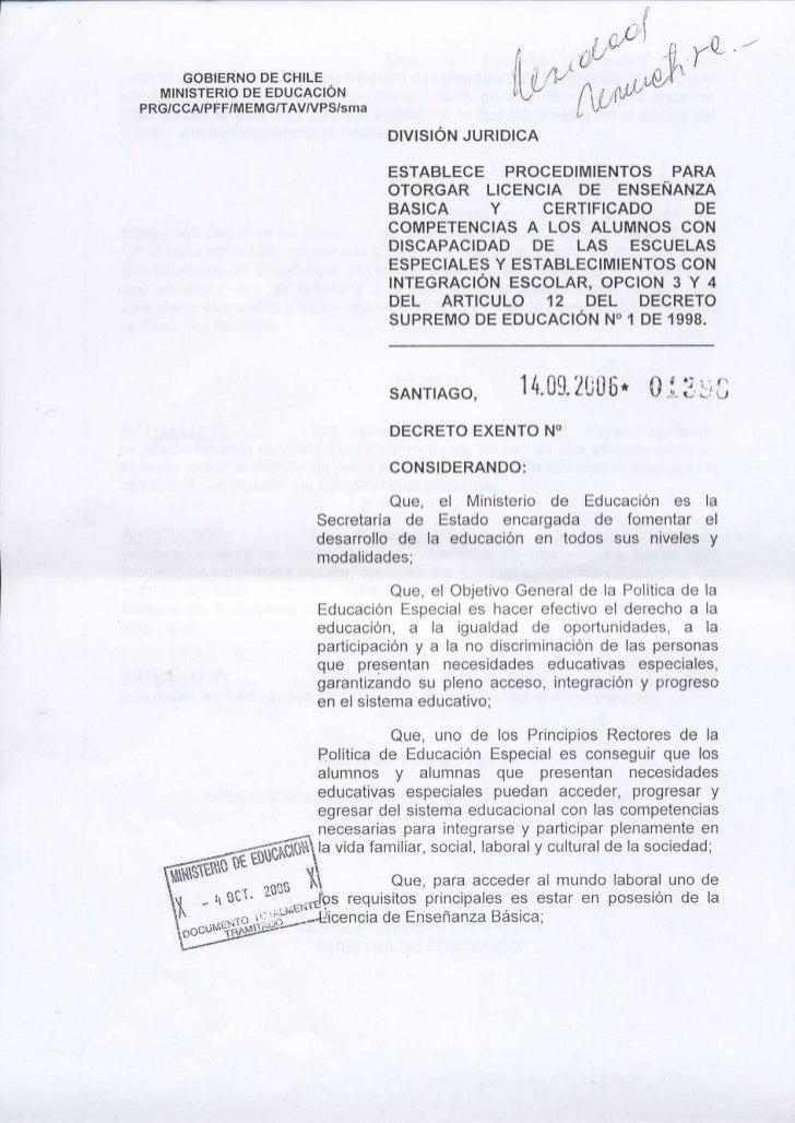 GOBIERNO DE CHILE   MINISTERIO DE EDUCACIONPRGICCAIPFFIMEMGITAVIVPSIsma                                        DIVISION JU...