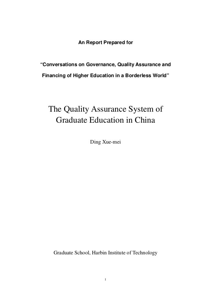 """An Report Prepared for""""Conversations on Governance, Quality Assurance andFinancing of Higher Education in a Borderless Wor..."""