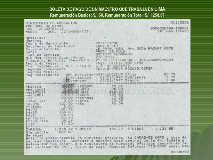 20070504.CARLOS MALPICA FAUSTOR SOBRE PROYECTO LEY CARRERA PUBLICA MAGISTERIAL EN CONGRESO DE LA REPUBLICA Slide 3
