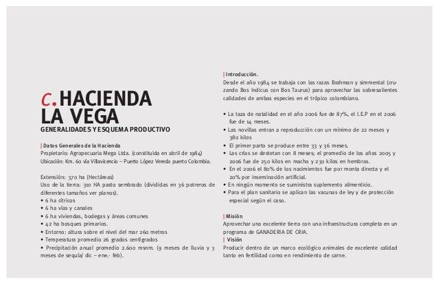 [13] c.HACIENDA LA VEGAGENERALIDADES Y ESQUEMA PRODUCTIVO   Datos Generales de la Hacienda Propietario: Agropecuaria Mega ...