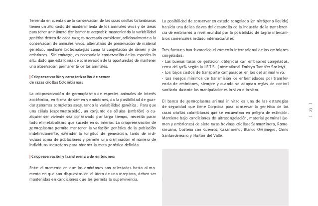 [23] Teniendo en cuenta que la conservación de las razas criollas Colombianas tienen un alto costo de mantenimiento de los...