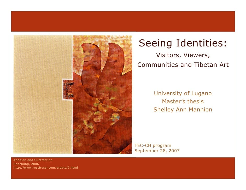 Seeing Identities:                                                    Visitors, Viewers,                                  ...