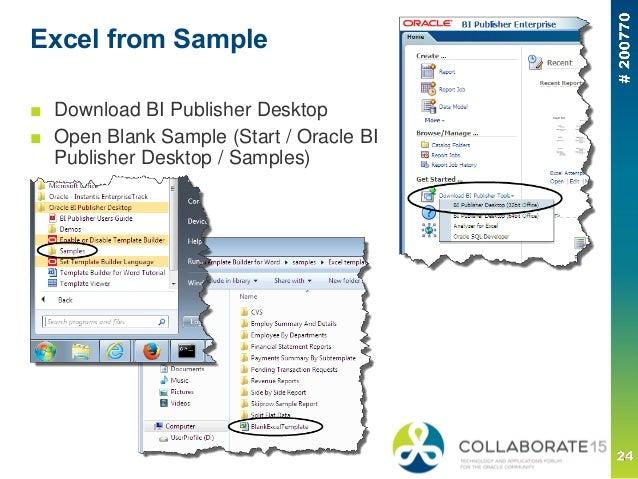 Building BI Publisher Reports using Templates