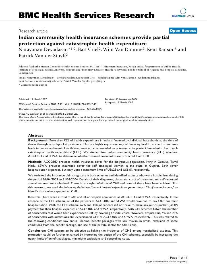 BMC Health Services Research                                                                                              ...