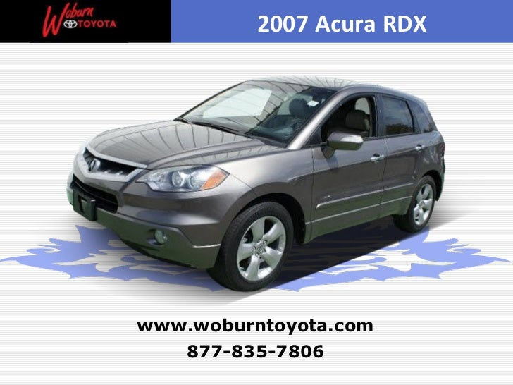 Used 2007 Acura Rdx Boston border=