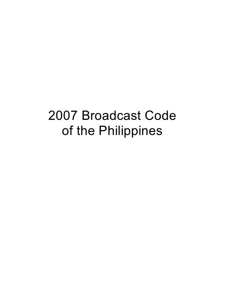 Code of Practices for Television Broadcasters