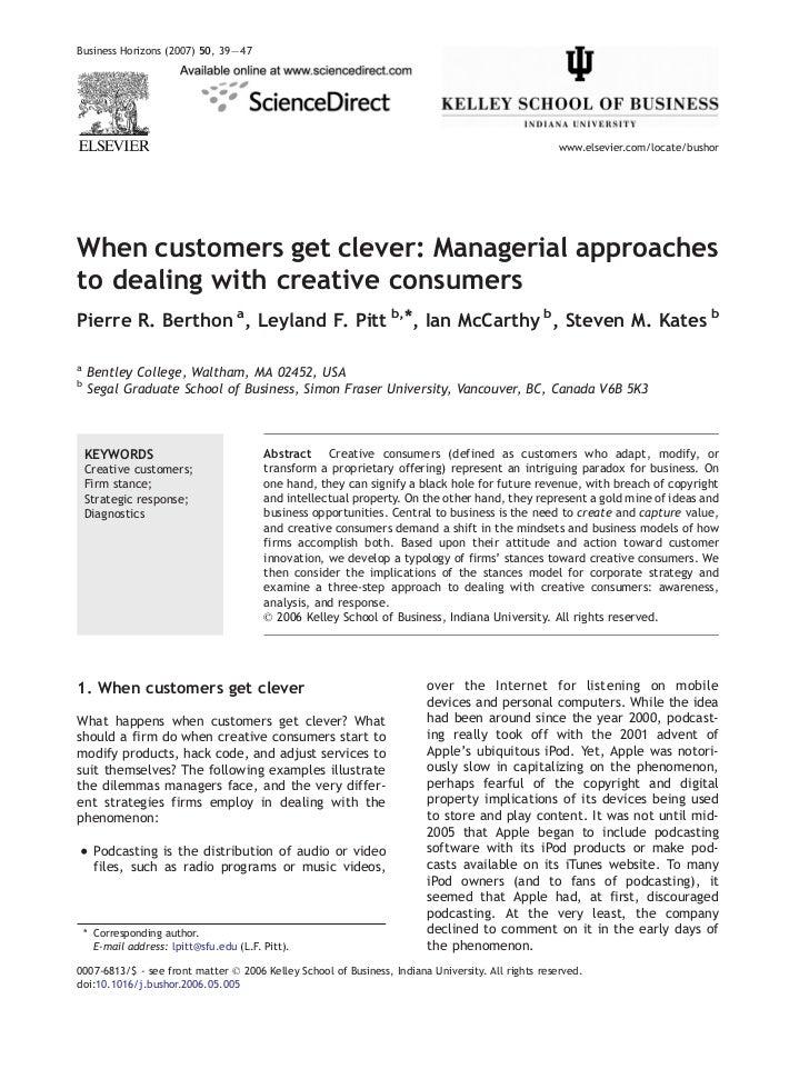 Business Horizons (2007) 50, 39 — 47                                                                                      ...