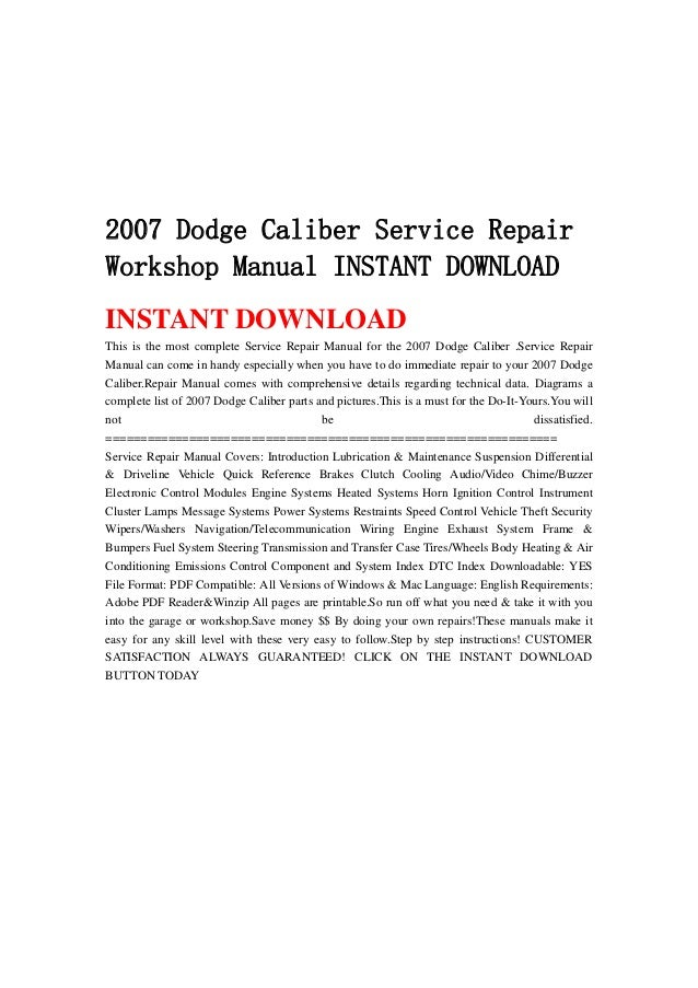 2007 dodge caliber service repair workshop manual instant download 1 638gcb1367306110 2007 dodge caliber service repairworkshop manual instant downloadinstant downloadthis is the most complete service repair sciox Gallery