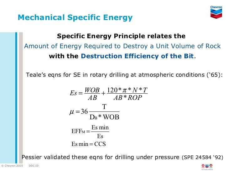 2007 drilling drlg sym... Mechanical Energy Formula