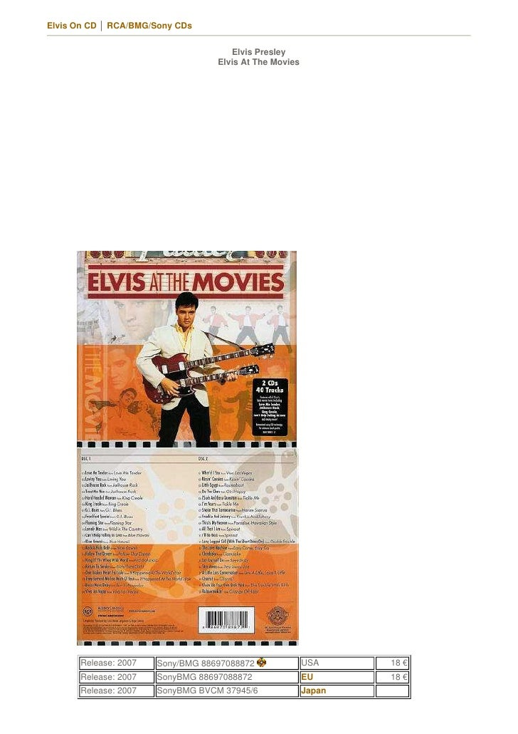Elvis On CD │ RCA/BMG/Sony CDs                                        Elvis Presley                                   Elvi...