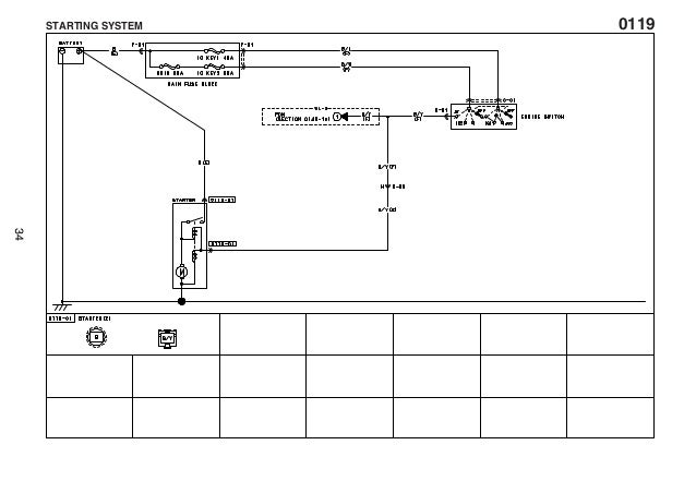 manual electrico ranger courier (ford)0119 form no f1a1 10 05l starting system 34