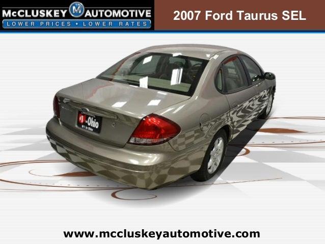 used 2007 ford taurus sel cincinnati ohio used car dealership. Black Bedroom Furniture Sets. Home Design Ideas