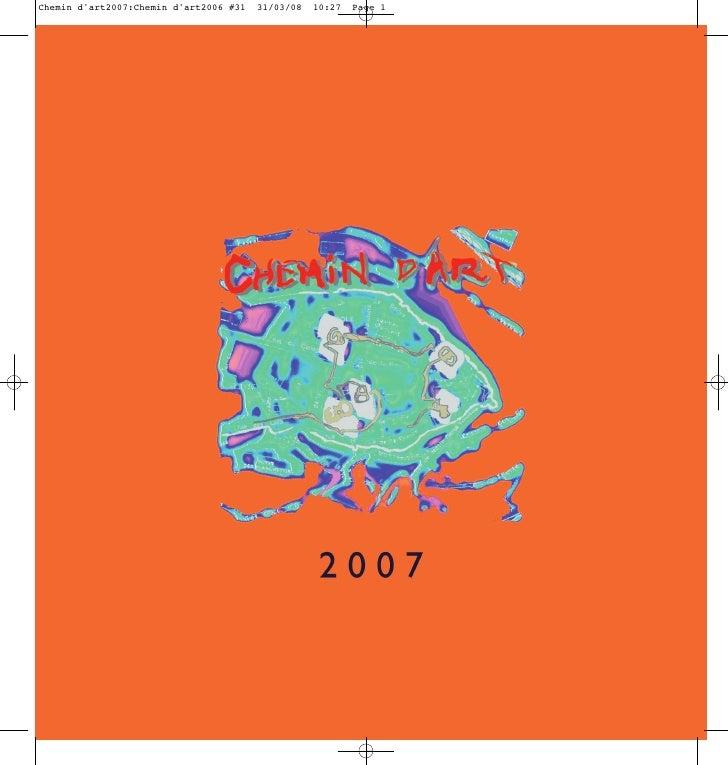 Chemin d'art2007:Chemin d'art2006 #31   31/03/08   10:27   Page 1