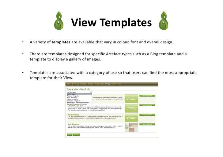 Mahara An Overview Of The EPortfolio Application - E portfolio templates