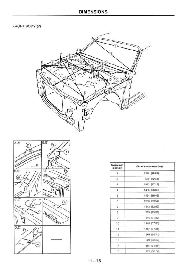 manual de medidas de carroceria y chasis ranger courier