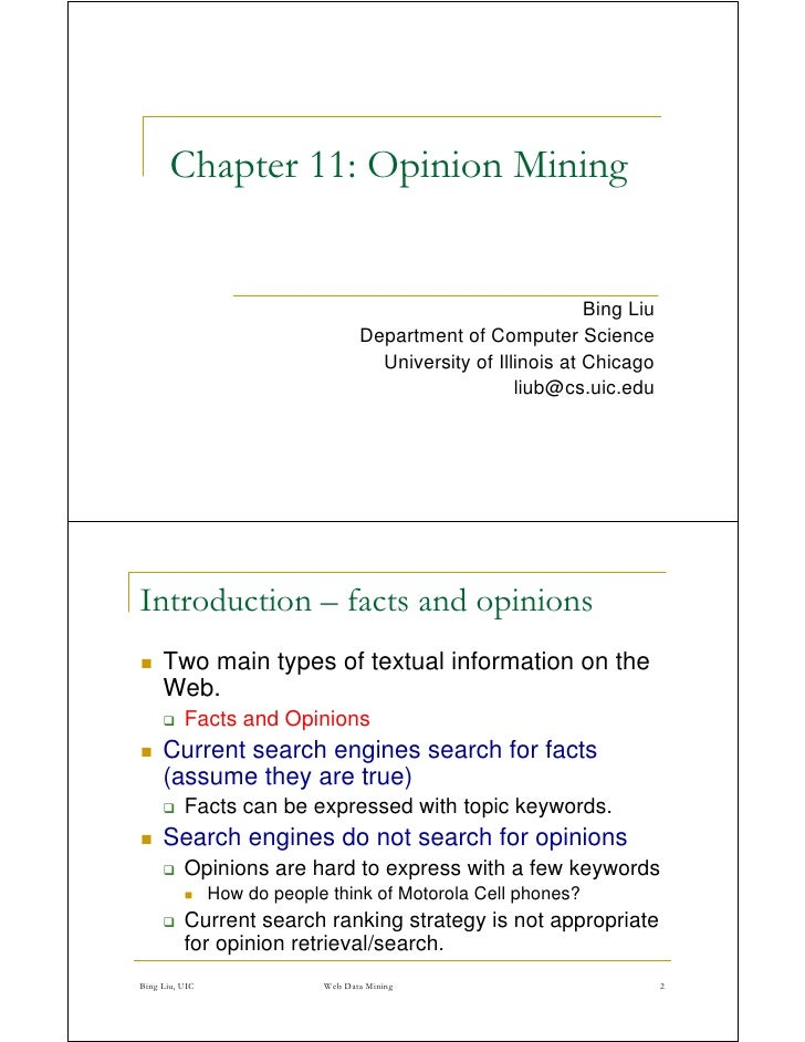 Chapter 11: Opinion Mining                                                                   Bing Liu                     ...