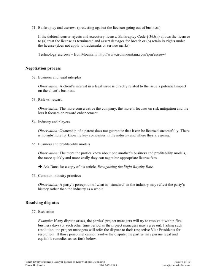 2007 Sei Handout What Every Business Lawyer Needs To Know