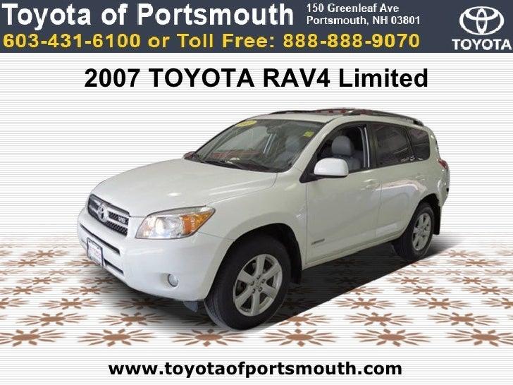 2007 TOYOTA RAV4 Limited www.toyotaofportsmouth.com