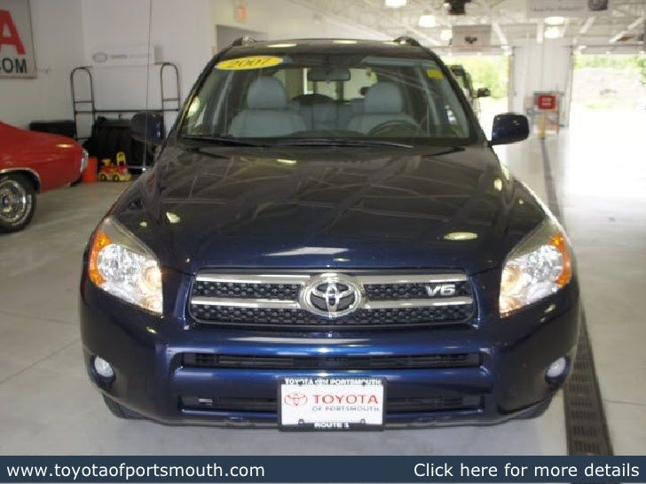 Toyota Dealers Nh >> Used 2007 Toyota Rav4 Limited Portsmouth Nh Toyota Dealer