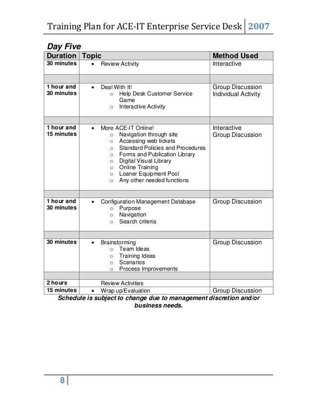 Service Plan Template Performance Improvement Plan Template