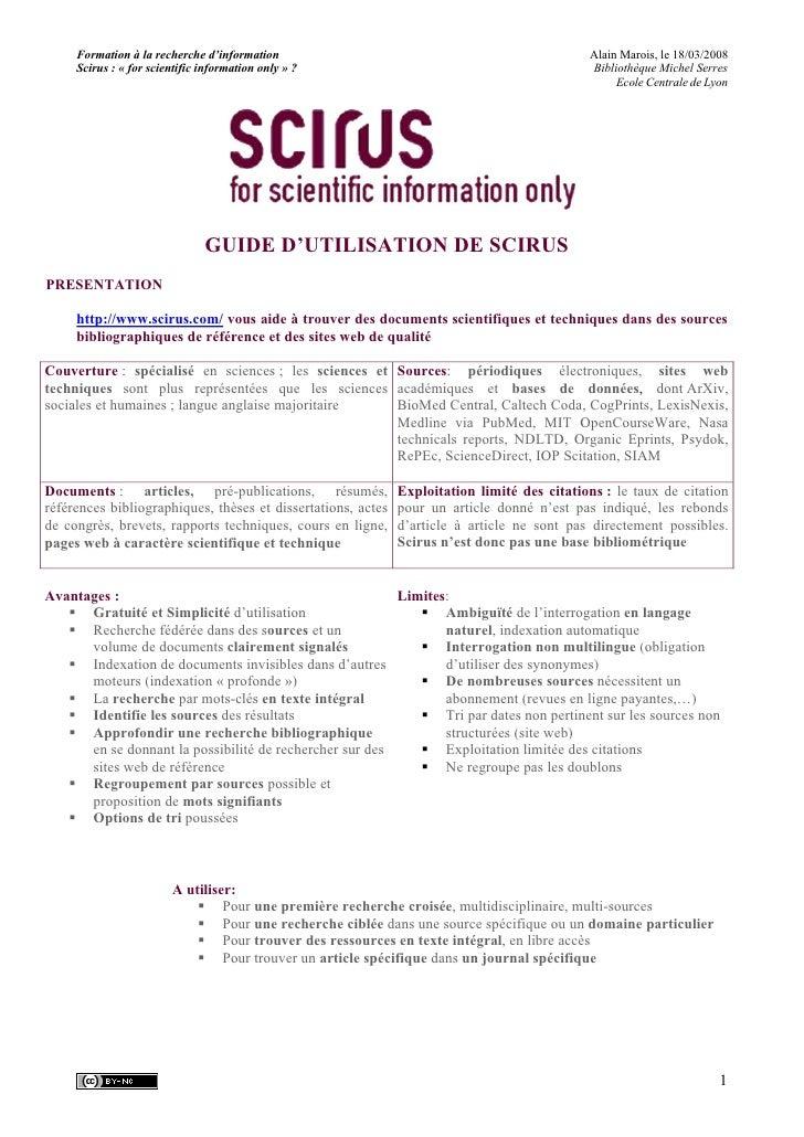 Formation à la recherche d'information                                                  Alain Marois, le 18/03/2008      S...