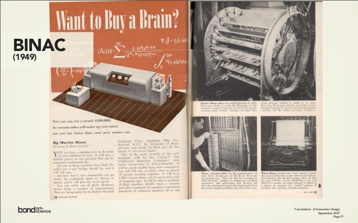 IBM ELECTRONIC CALCULATORS 12    (1950s)                                  Foundations of Interaction Design               ...