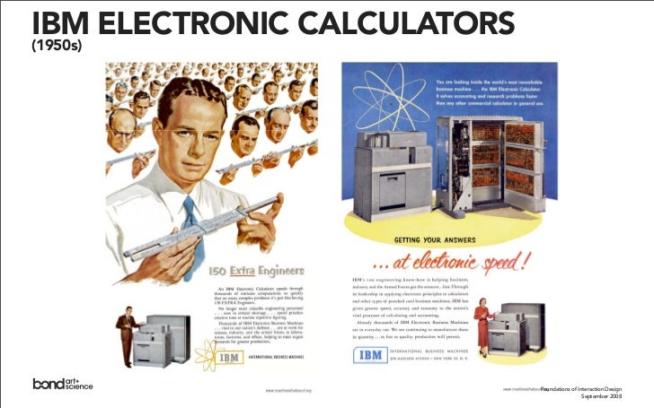 UNIVAC (1956)              Foundations of Interaction Design                           September 2007                     ...