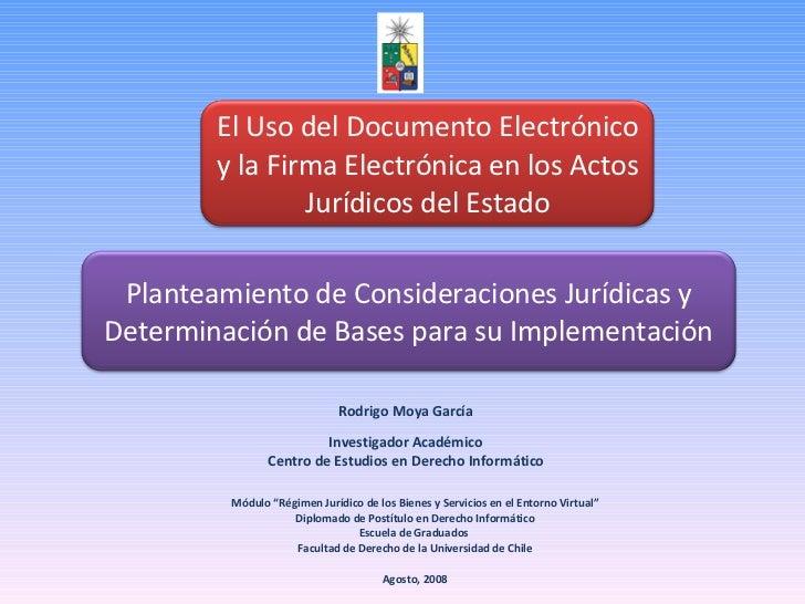 """Rodrigo Moya García Módulo """"Régimen Jurídico de los Bienes y Servicios en el Entorno Virtual"""" Diplomado de Postítulo en De..."""