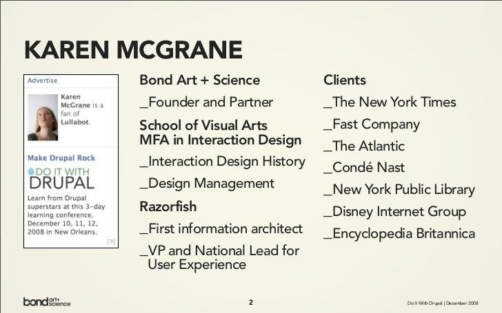 KAREN MCGRANE       Bond Art + Science             Clients       _Founder and Partner           _The New York Times       ...