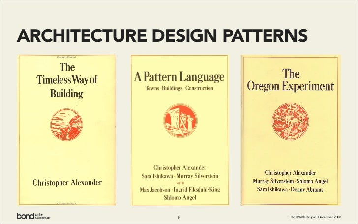 ARCHITECTURE DESIGN PATTERNS                    14         Do It With Drupal | December 2008