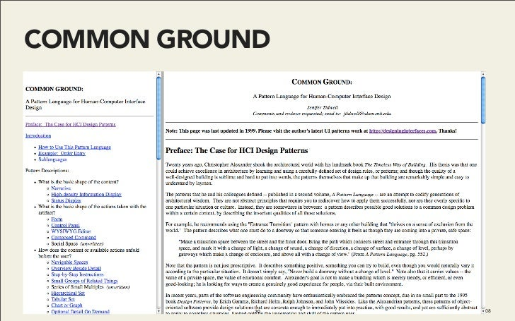 COMMON GROUND                 20   Do It With Drupal | December 2008