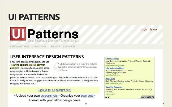 UI PATTERNS                   22   Do It With Drupal | December 2008