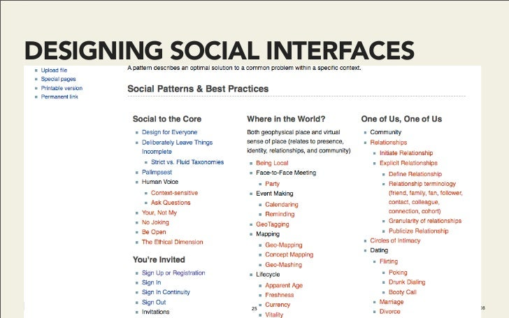 DESIGNING SOCIAL INTERFACES                    25         Do It With Drupal | December 2008