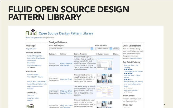 FLUID OPEN SOURCE DESIGN PATTERN LIBRARY                    26          Do It With Drupal | December 2008