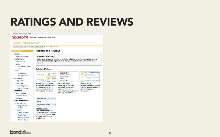 RATINGS AND REVIEWS                    31