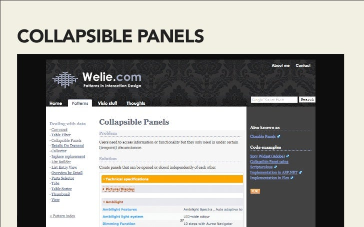 COLLAPSIBLE PANELS                    37