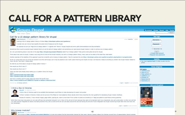 CALL FOR A PATTERN LIBRARY                     42           Do It With Drupal | December 2008