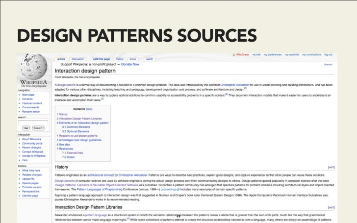 DESIGN PATTERNS SOURCES                    49