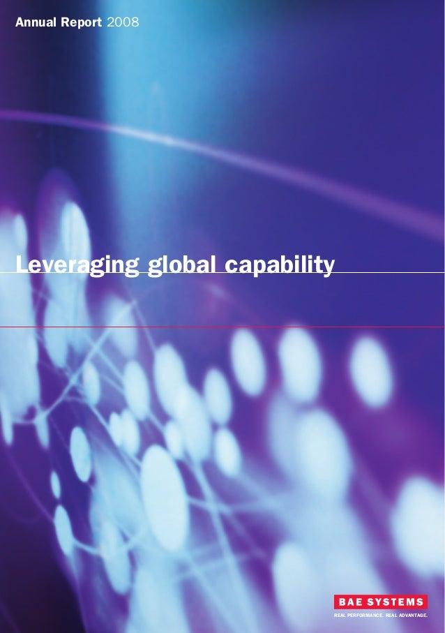 BAE Systems plc                                              BAE Systems plc Annual Report 20086 Carlton Gardens          ...