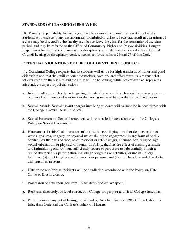 Sexual harassment california education code