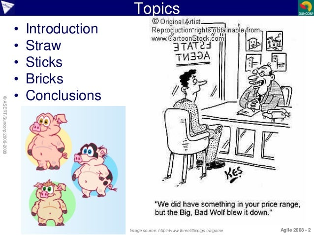 Agile Project Experiences - The Story of Three Little Pigs Slide 2