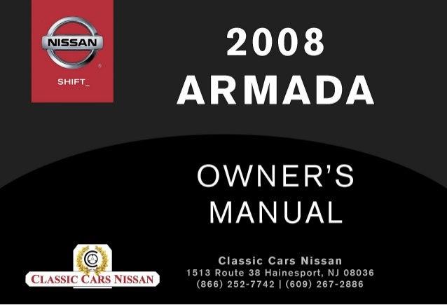 2008 armada owner s manual rh slideshare net 2008 nissan pathfinder owner's manual 2007 nissan armada owners manual