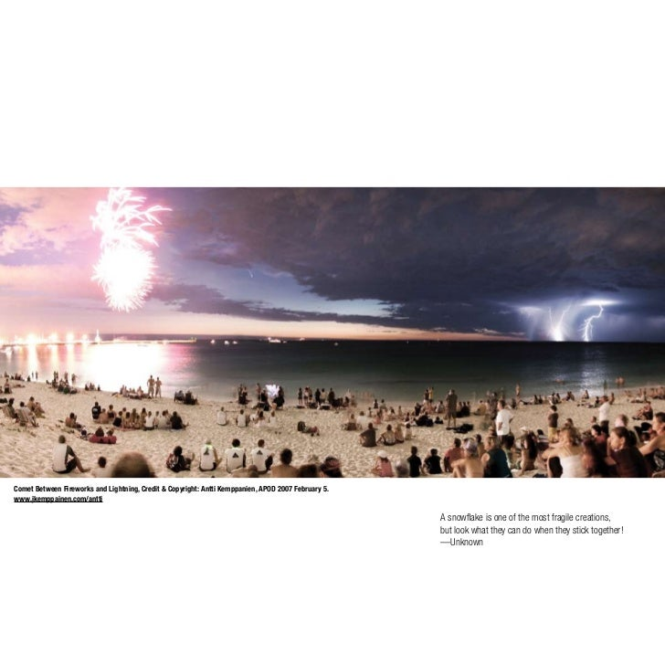 Comet Between Fireworks and Lightning, Credit & Copyright: Antti Kemppanien, APOD 2007 February 5. www.jkemppainen.com/ant...