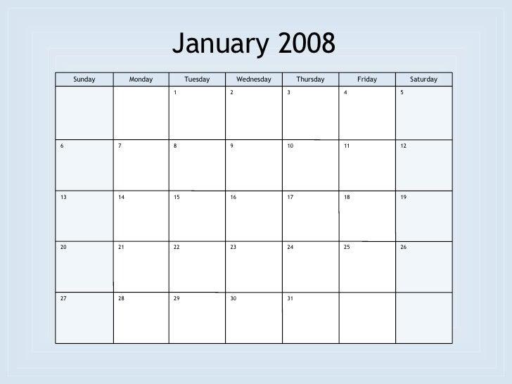 3d January 2008 Agenda Calendar Stock Photo 4051594