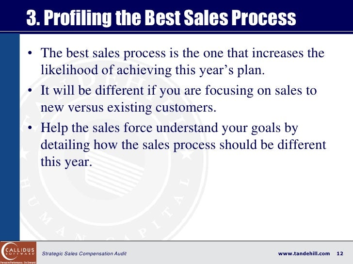 3. Profiling the Best Sales Process • The best sales process is the one that increases the   likelihood of achieving this ...