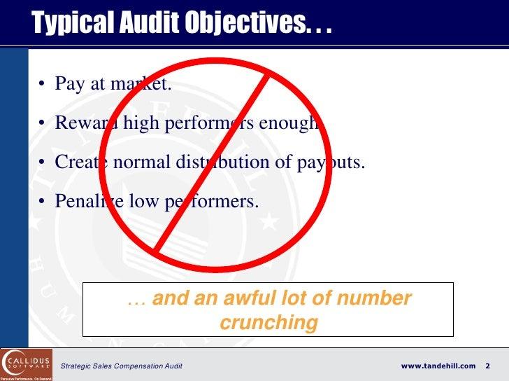 The Strategic Sales Incentive Plan Audit: Put Away Your Calculator Slide 2